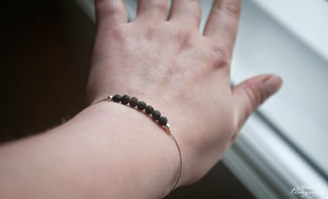 bracelet en pierres de lave DIY