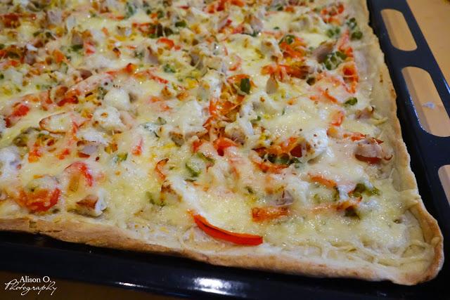 Recette pizza poulet poivron cuisine