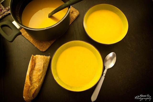 Recette velouté patates douces, carottes et lait de coco