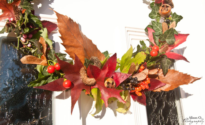 DIY couronne d'automne naturelle