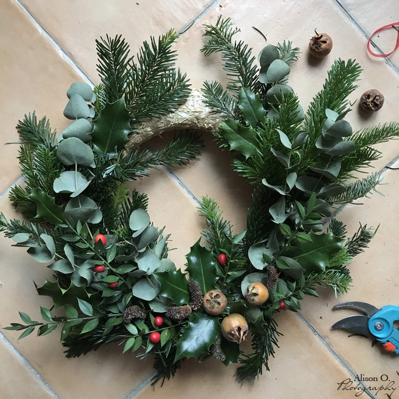 DIY couronne de Noël naturelle